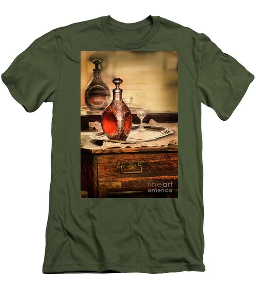 Men's T-Shirt (Slim Fit) featuring the photograph Decanter And Glass by Jill Battaglia