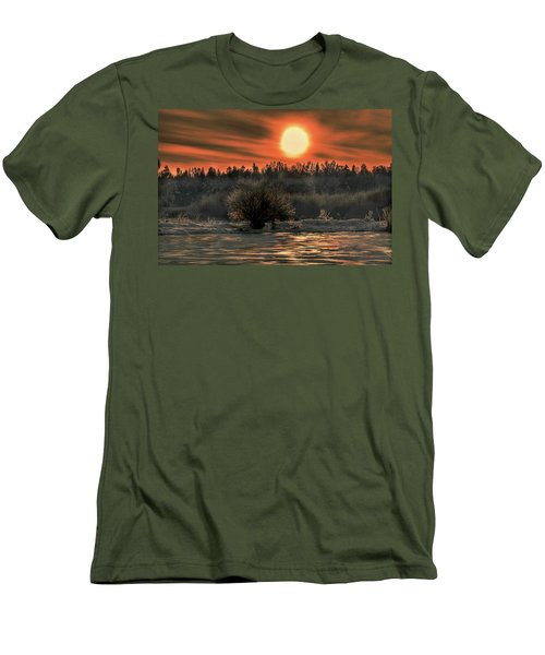 December Sun #f3 Men's T-Shirt (Slim Fit) by Leif Sohlman