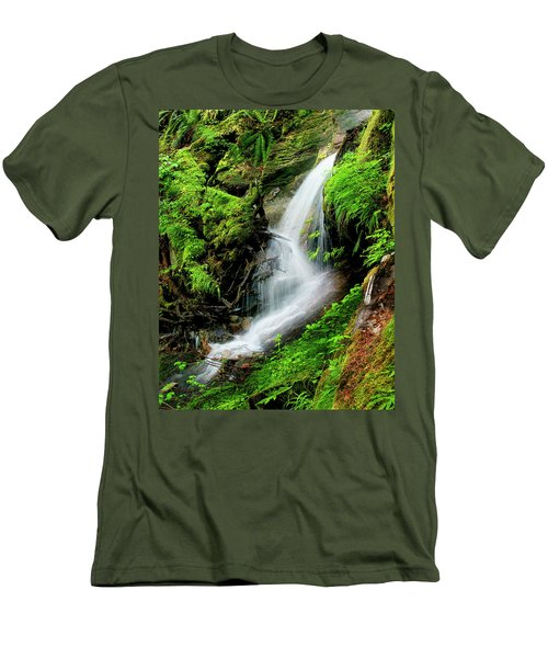 Deep Forest Falls Men's T-Shirt (Athletic Fit)