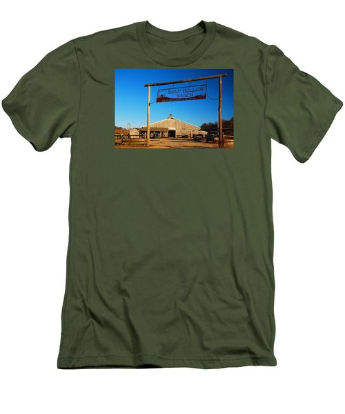 Deep Hollow Ranch  Men's T-Shirt (Slim Fit) by James Kirkikis