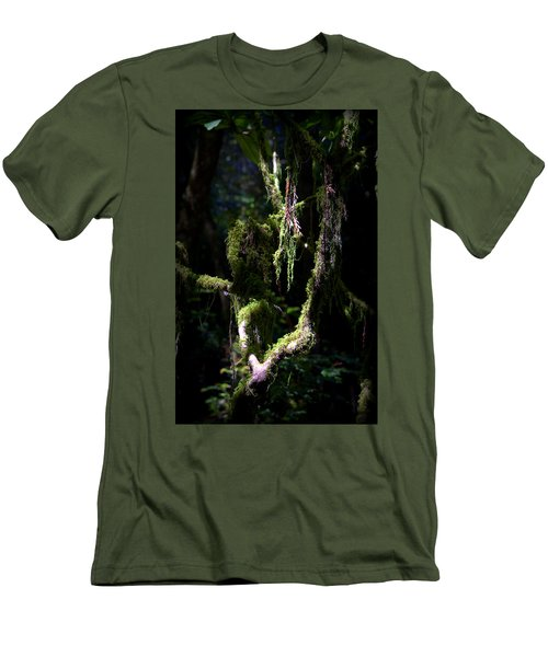Men's T-Shirt (Slim Fit) featuring the photograph Deep In The Forest by Lori Seaman