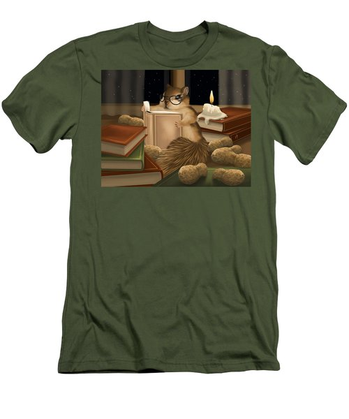 Men's T-Shirt (Slim Fit) featuring the painting Deep Study by Veronica Minozzi