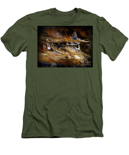 Men's T-Shirt (Slim Fit) featuring the painting Deep Time by Nancy Kane Chapman