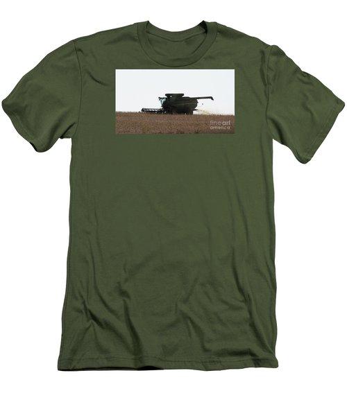 Deere Harvesting Men's T-Shirt (Slim Fit) by J L Zarek