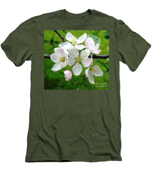 Delicate Apple Blossoms Men's T-Shirt (Athletic Fit)