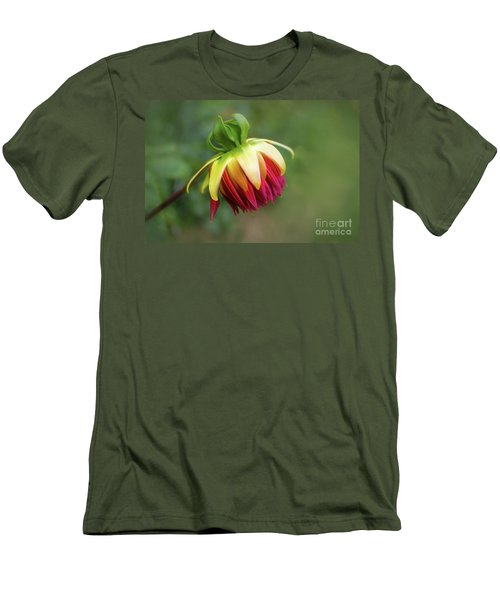 Demure Dahlia Bud Men's T-Shirt (Athletic Fit)