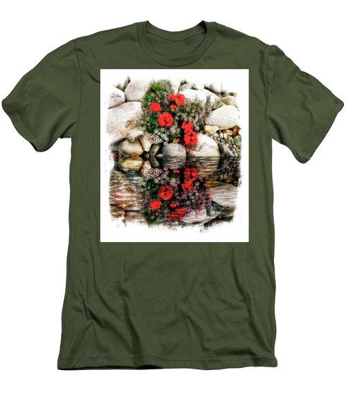 Men's T-Shirt (Slim Fit) featuring the photograph Denali National Park Flowers by Joseph Hendrix