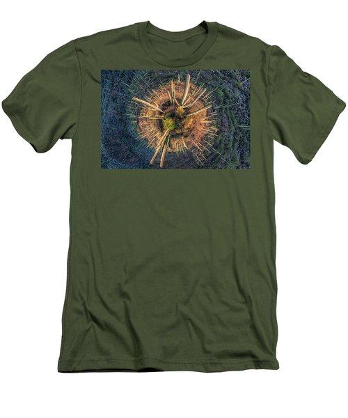 Men's T-Shirt (Slim Fit) featuring the photograph Desert Big Bang by Lynn Geoffroy