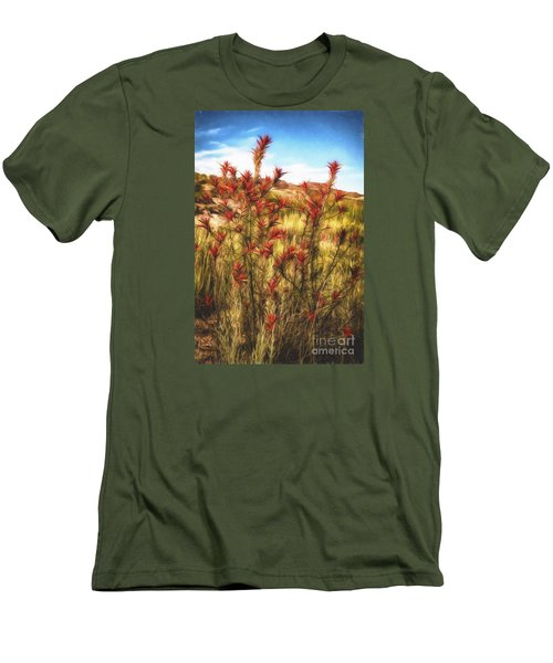 Desert Flora  ... Men's T-Shirt (Slim Fit) by Chuck Caramella