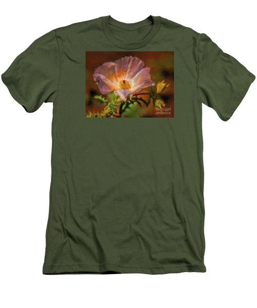Desert Flower  ... Men's T-Shirt (Slim Fit) by Chuck Caramella