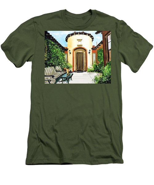 Men's T-Shirt (Slim Fit) featuring the painting Desert Getaway by Tom Riggs