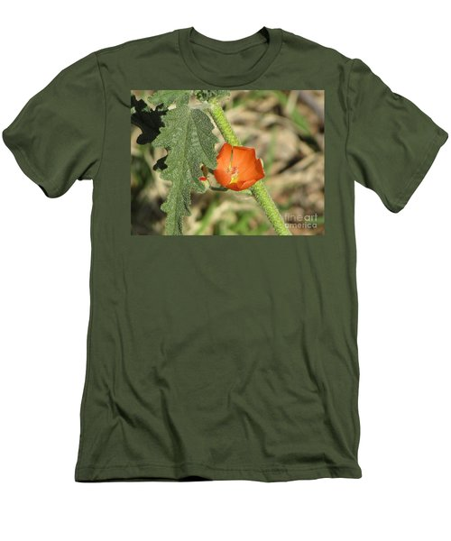 Desert Globemallow Bloom 202 Men's T-Shirt (Slim Fit) by En-Chuen Soo