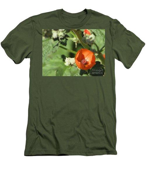 Desert Globemallow Bloom 215 Men's T-Shirt (Slim Fit) by En-Chuen Soo