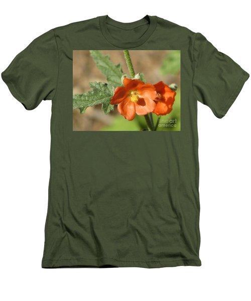 Desert Globemallow Bloom 220 Men's T-Shirt (Slim Fit) by En-Chuen Soo