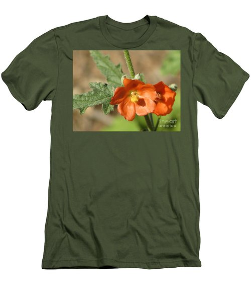 Desert Globemallow Bloom 220 Men's T-Shirt (Athletic Fit)