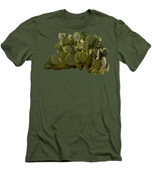 Desert Prickly-pear No6 Men's T-Shirt (Slim Fit) by Mark Myhaver