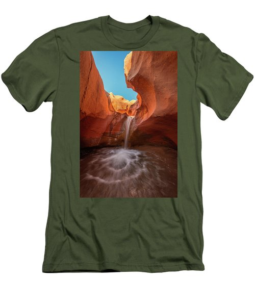 Desert Waterfall Men's T-Shirt (Athletic Fit)