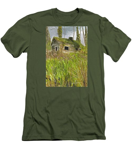 Men's T-Shirt (Slim Fit) featuring the digital art Deserted by Dale Stillman