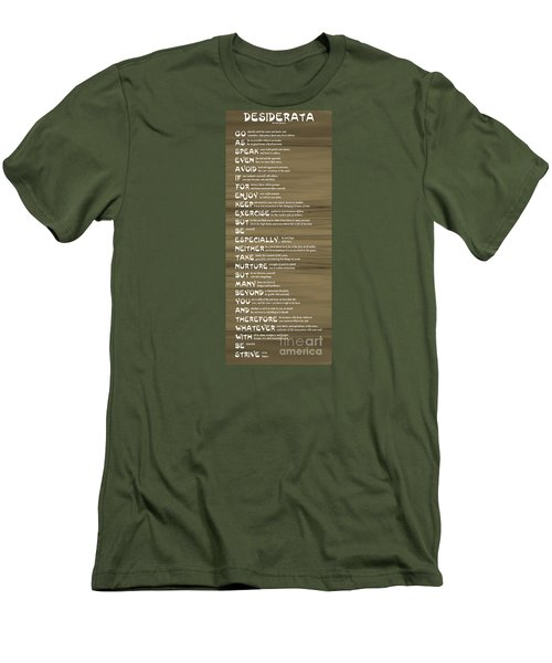 Desiderata 17 Men's T-Shirt (Athletic Fit)
