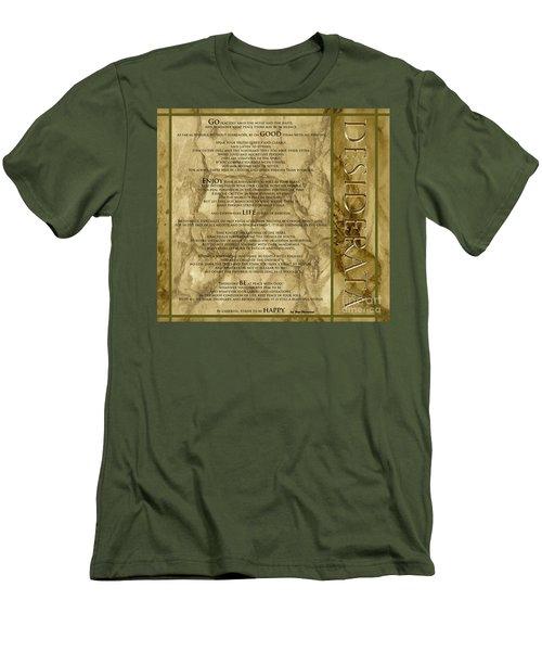 Desiderata #8 Men's T-Shirt (Slim Fit) by Claudia Ellis