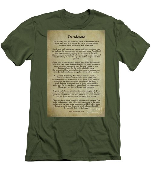 Desiderata Men's T-Shirt (Slim Fit) by Olga Hamilton
