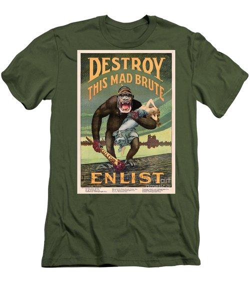 Destroy This Mad Brute - Restored Vintage Poster Men's T-Shirt (Athletic Fit)