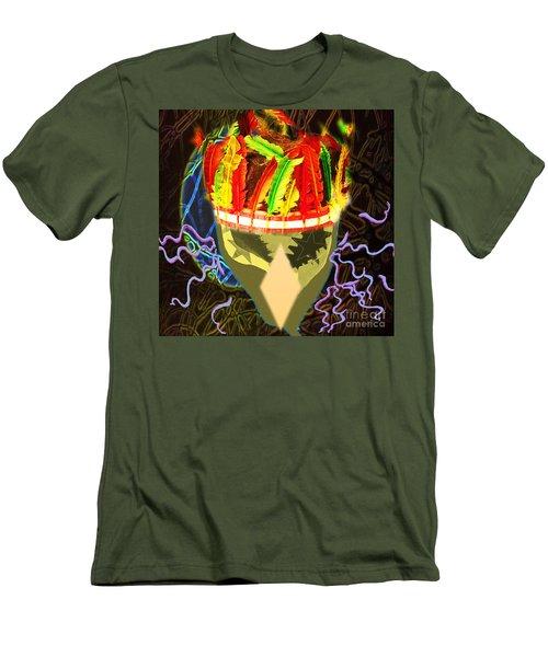 Destruction Men's T-Shirt (Slim Fit) by Belinda Threeths