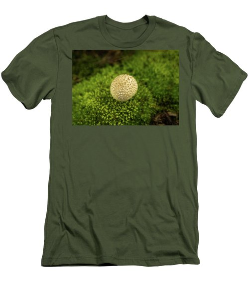 Developing Mushroom On A Bed Of Moss Men's T-Shirt (Athletic Fit)