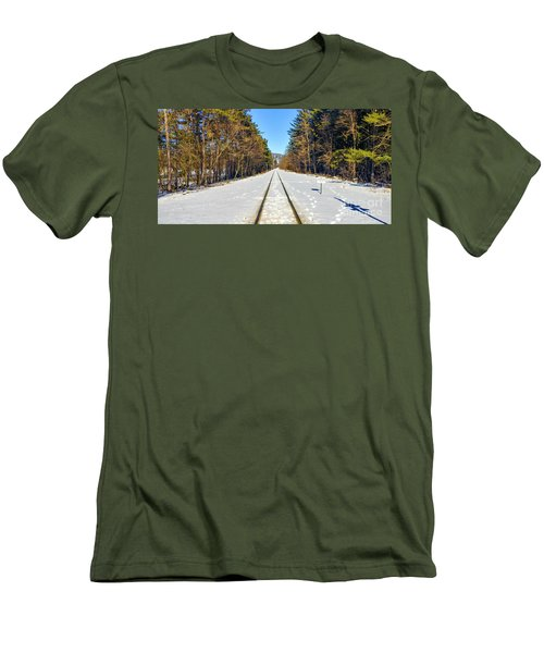 Men's T-Shirt (Athletic Fit) featuring the photograph Devil's Lake Railroad by Ricky L Jones