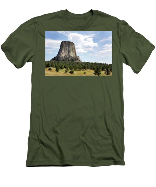 Devils Tower National Monument Men's T-Shirt (Athletic Fit)