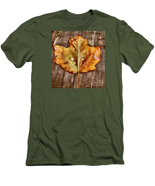 Men's T-Shirt (Slim Fit) featuring the photograph Dew Diligence by Heather King