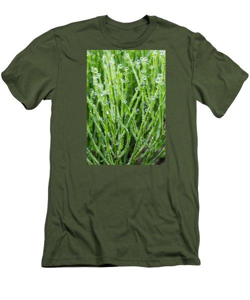 Dew Drop Men's T-Shirt (Slim Fit) by Cynthia Traun