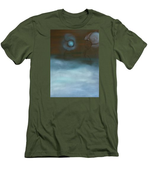 Men's T-Shirt (Slim Fit) featuring the painting Dialog by Min Zou