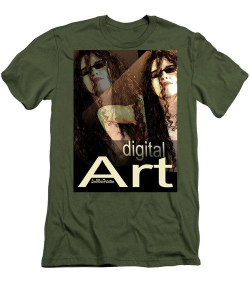 Digital Art Poster Men's T-Shirt (Athletic Fit)