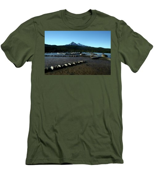Men's T-Shirt (Slim Fit) featuring the photograph Directional Points by Laddie Halupa