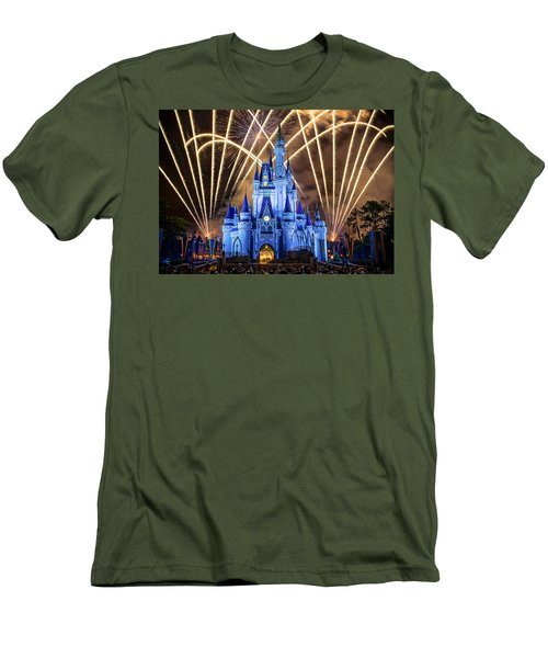 Disney World Men's T-Shirt (Slim Fit) by Anna Rumiantseva