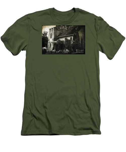 Men's T-Shirt (Slim Fit) featuring the photograph Distressed by Judy Wolinsky