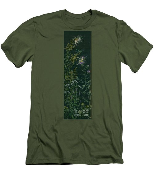 Ditchweed Fairies Goldenrod And Thistle Men's T-Shirt (Slim Fit) by Dawn Fairies