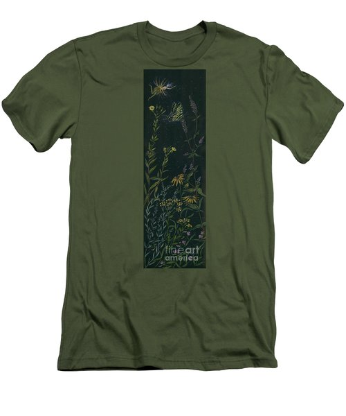 Ditchweed Fairy Tiger Swallowtail Men's T-Shirt (Slim Fit) by Dawn Fairies