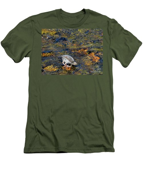 Men's T-Shirt (Athletic Fit) featuring the photograph Diving For Food by Ausra Huntington nee Paulauskaite