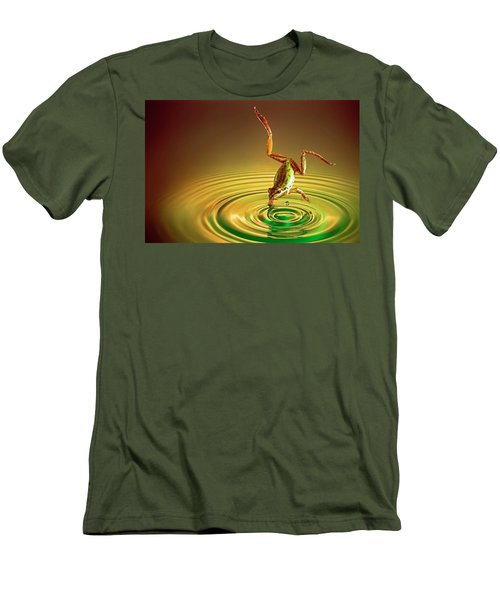 Men's T-Shirt (Slim Fit) featuring the photograph Diving by William Lee
