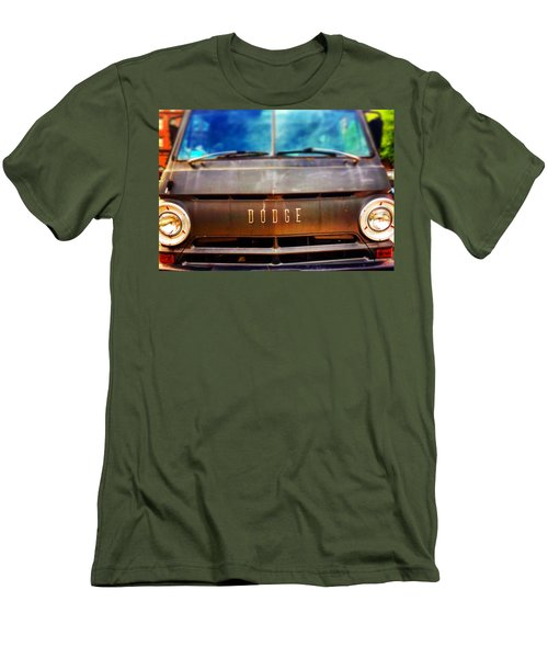 Dodge In Town Men's T-Shirt (Slim Fit) by Olivier Calas