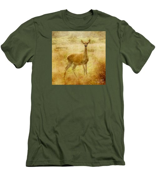 Men's T-Shirt (Slim Fit) featuring the photograph Doe A Deer A Female Deer by Linsey Williams
