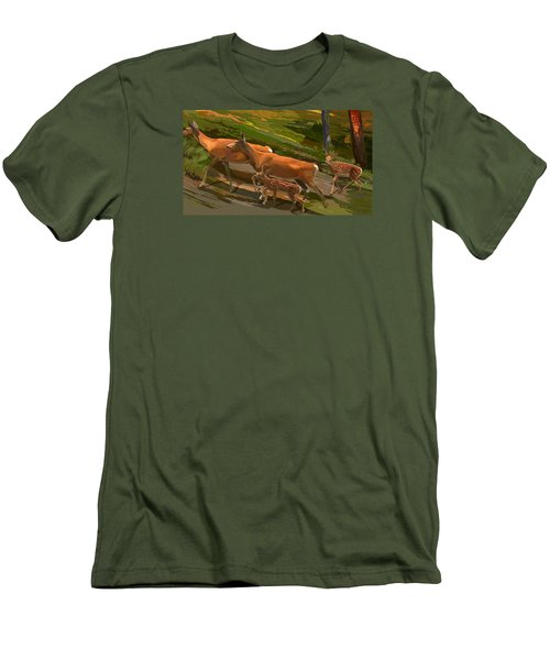 Does And Fawns Men's T-Shirt (Athletic Fit)