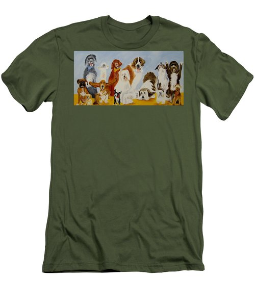Dogs Are People Too Men's T-Shirt (Athletic Fit)