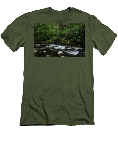 Men's T-Shirt (Slim Fit) featuring the photograph Dogwood Along The River by Mike Eingle