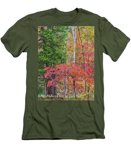 Dogwood And Cedar Men's T-Shirt (Slim Fit) by Tim Fitzharris