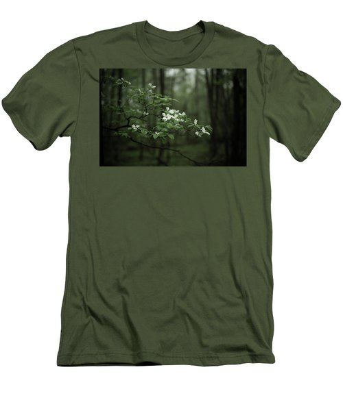 Men's T-Shirt (Slim Fit) featuring the photograph Dogwood Branch by Shane Holsclaw