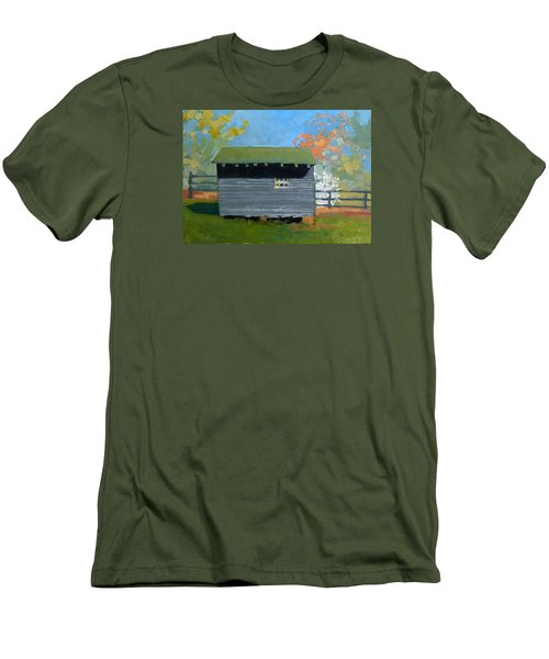 Dogwood Farm Shed Men's T-Shirt (Slim Fit) by Catherine Twomey