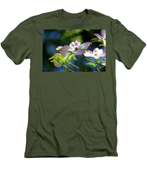 Dogwood Flowers Men's T-Shirt (Slim Fit) by Ronda Ryan